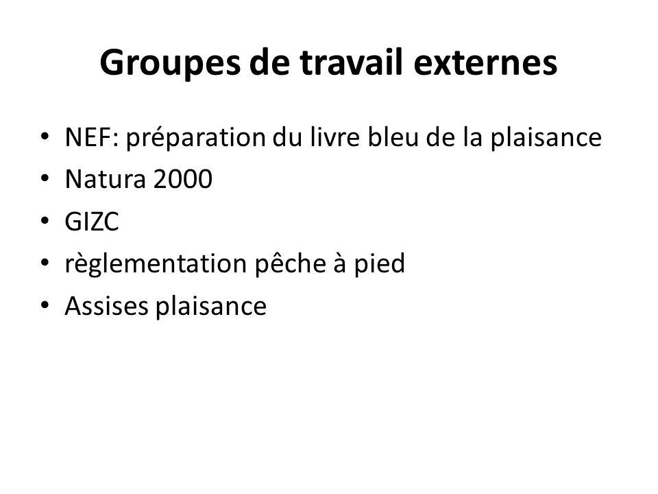 Groupes de travail externes