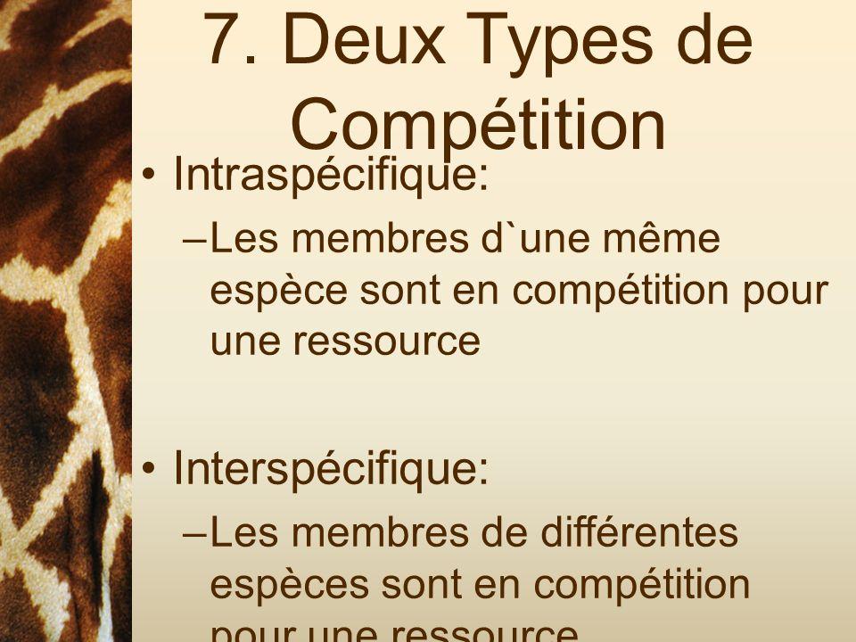 7. Deux Types de Compétition