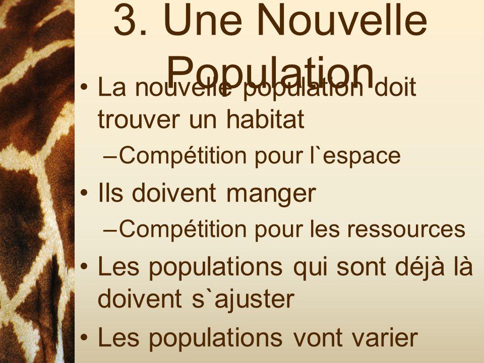 3. Une Nouvelle Population