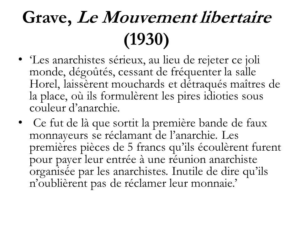 Grave, Le Mouvement libertaire (1930)