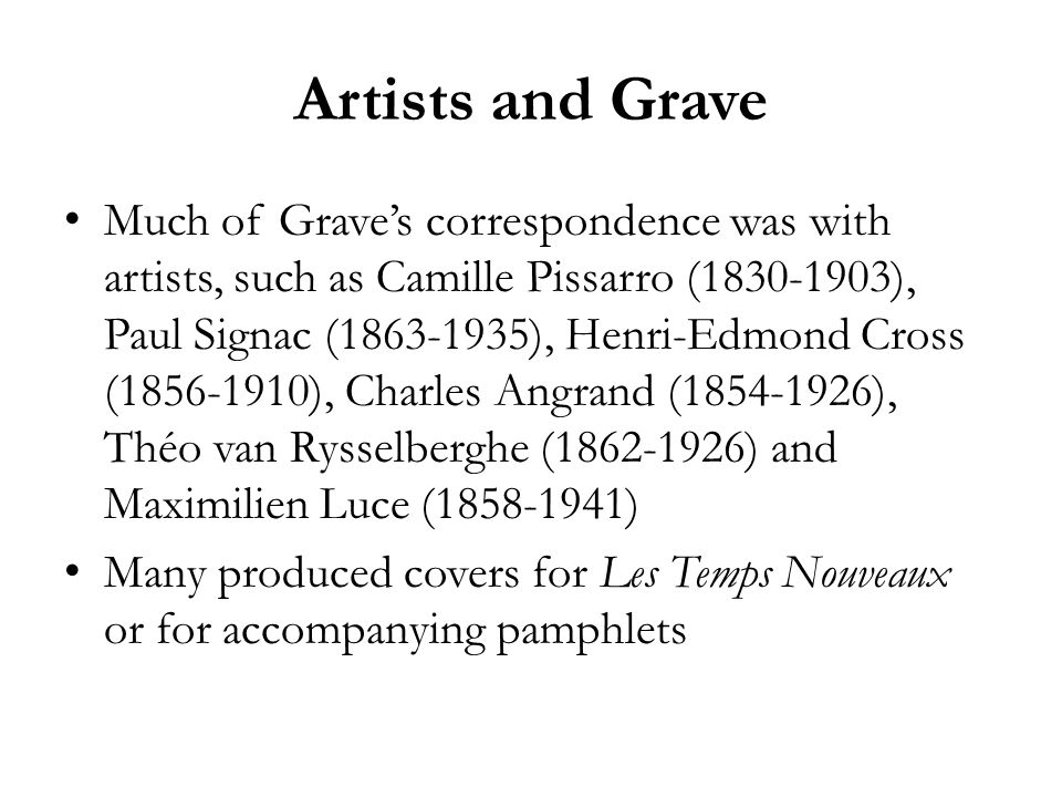 Artists and Grave