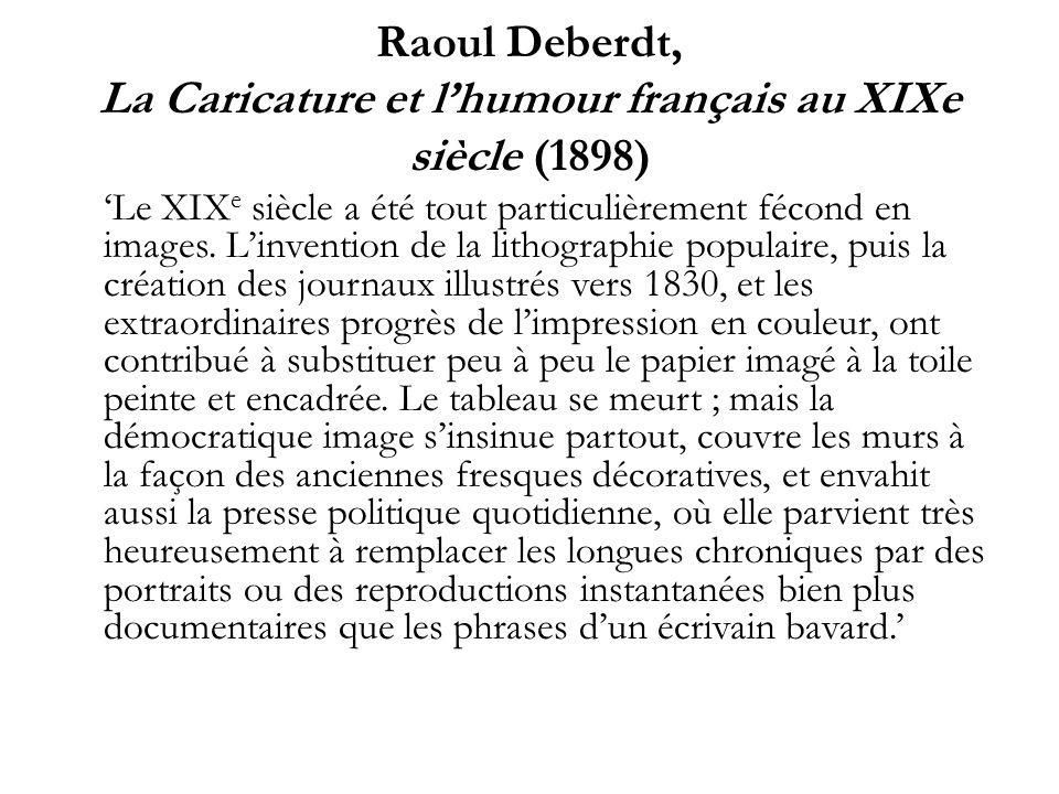 Raoul Deberdt, La Caricature et l'humour français au XIXe siècle (1898)