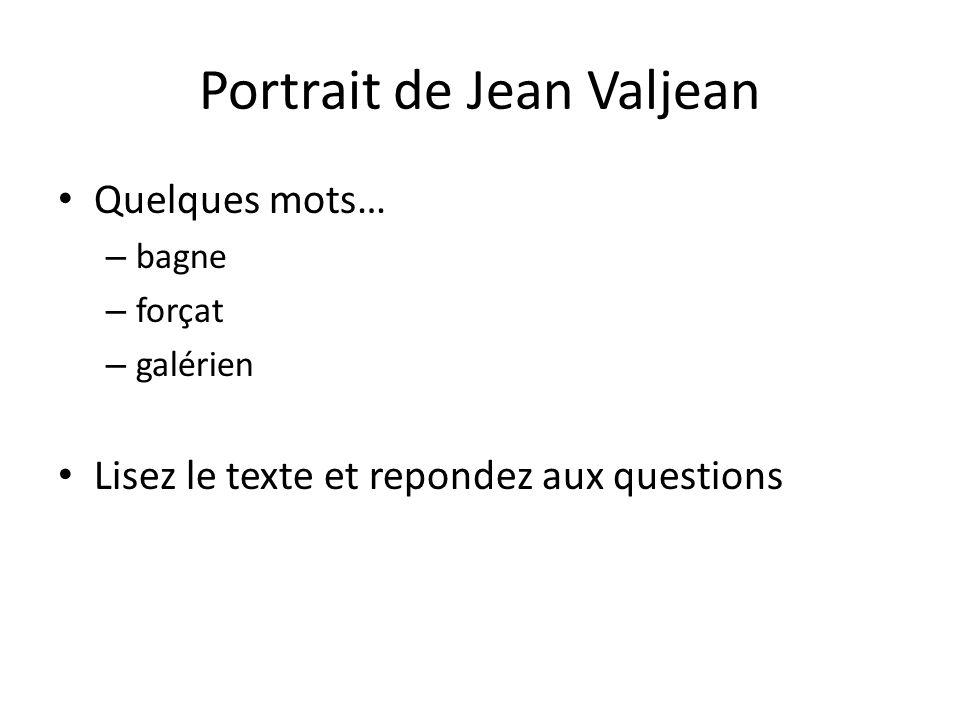 Portrait de Jean Valjean