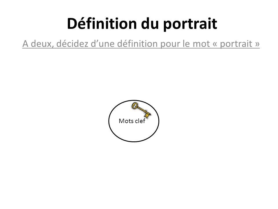 Définition du portrait