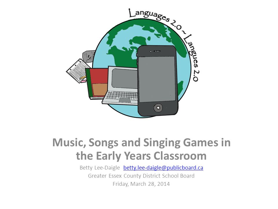 Music, Songs and Singing Games in the Early Years Classroom