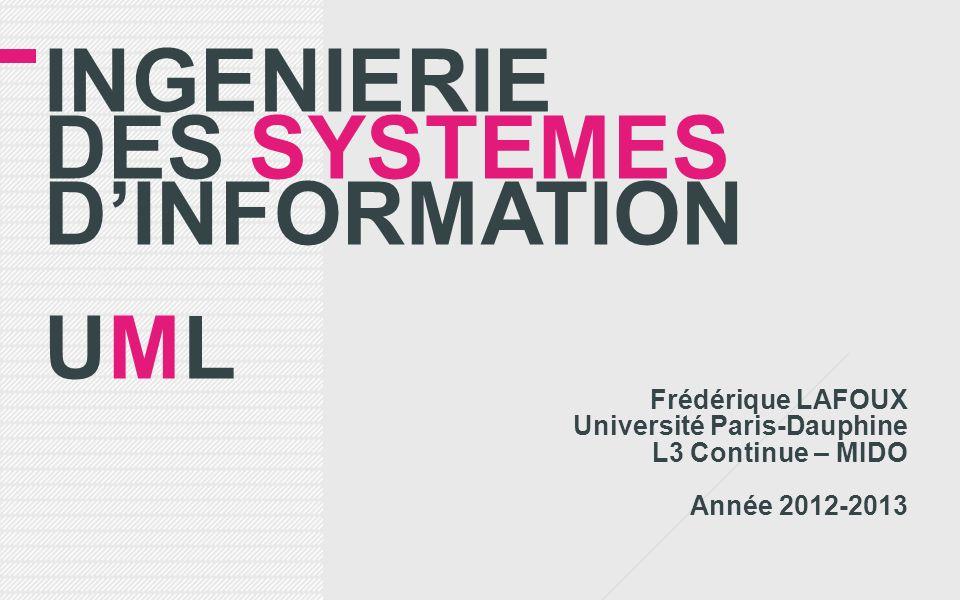 INGENIERIE DES SYSTEMES D'INFORMATION UML