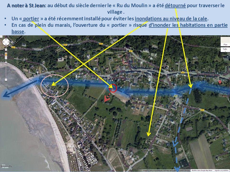 A noter à St Jean: au début du siècle dernier le « Ru du Moulin » a été détourné pour traverser le village .