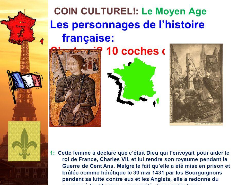COIN CULTUREL!: Le Moyen Age