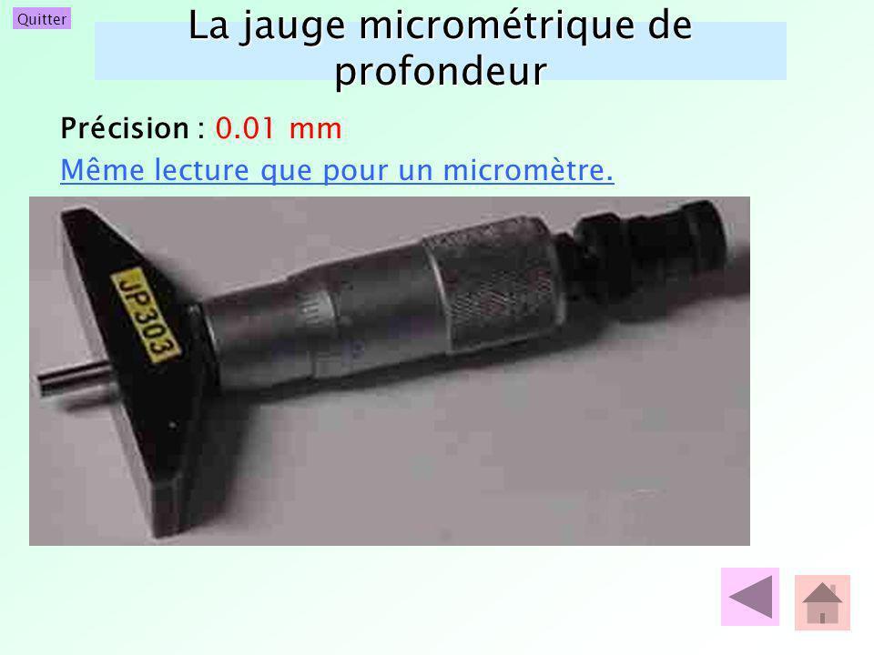 La jauge micrométrique de profondeur