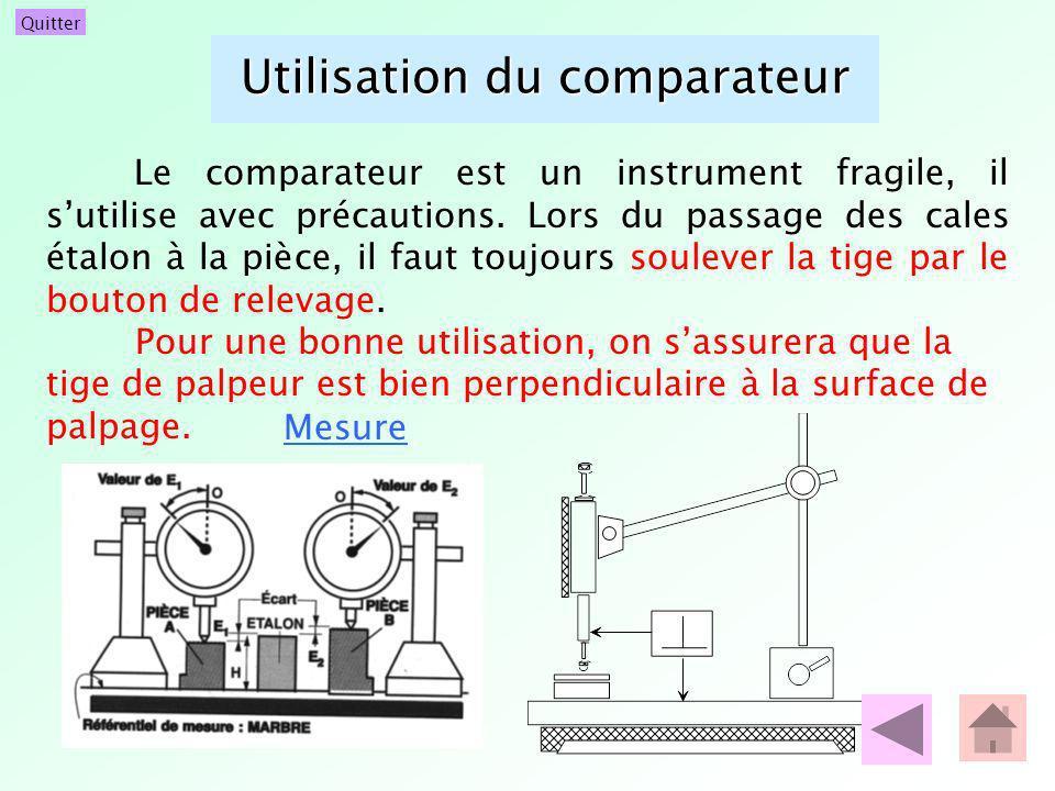 Utilisation du comparateur