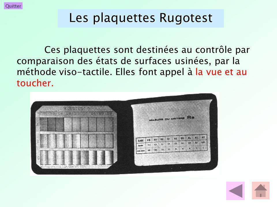Les plaquettes Rugotest