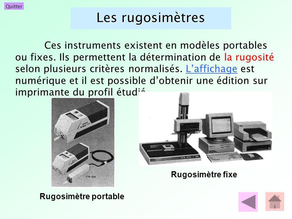 Les rugosimètres