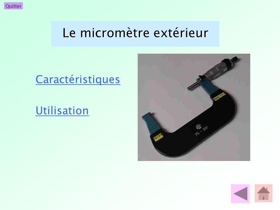 Le micromètre extérieur