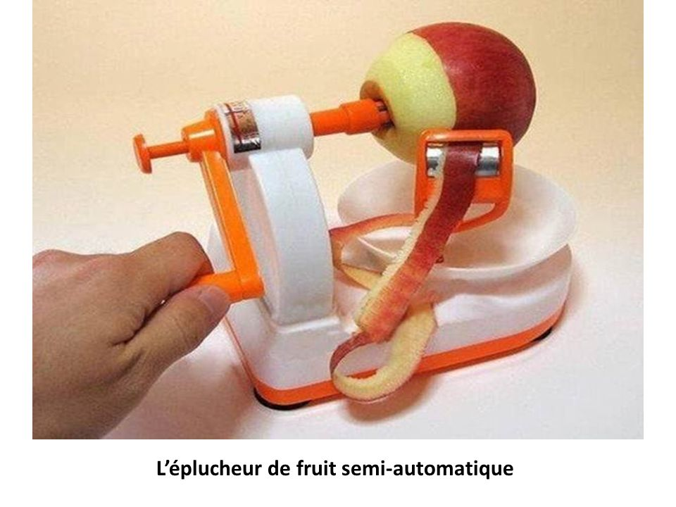 L'éplucheur de fruit semi-automatique