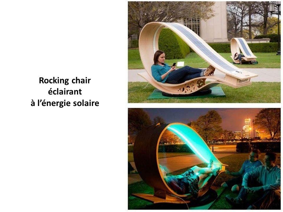Rocking chair éclairant à l'énergie solaire