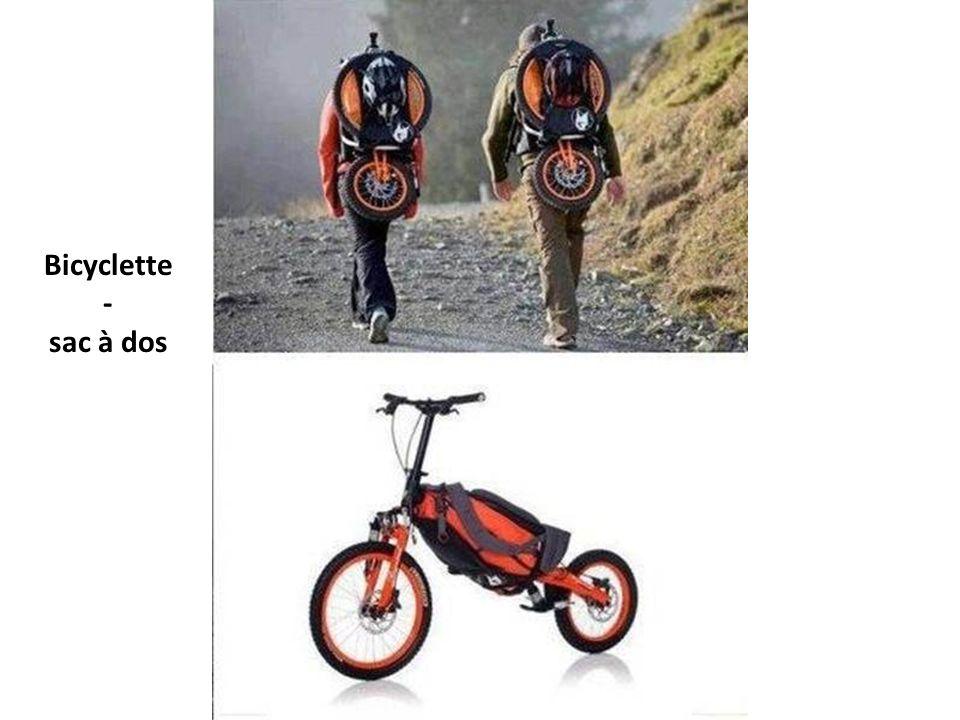 Bicyclette- sac à dos