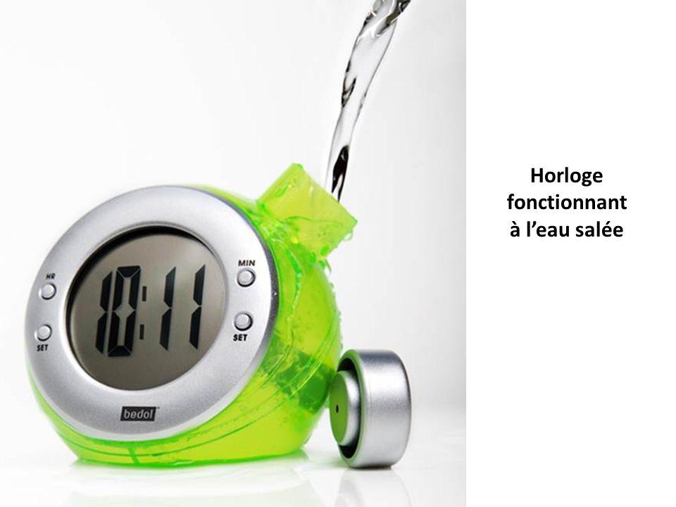 Horloge fonctionnant à l'eau salée
