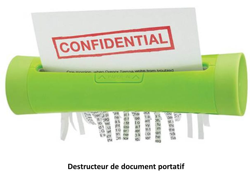 Destructeur de document portatif