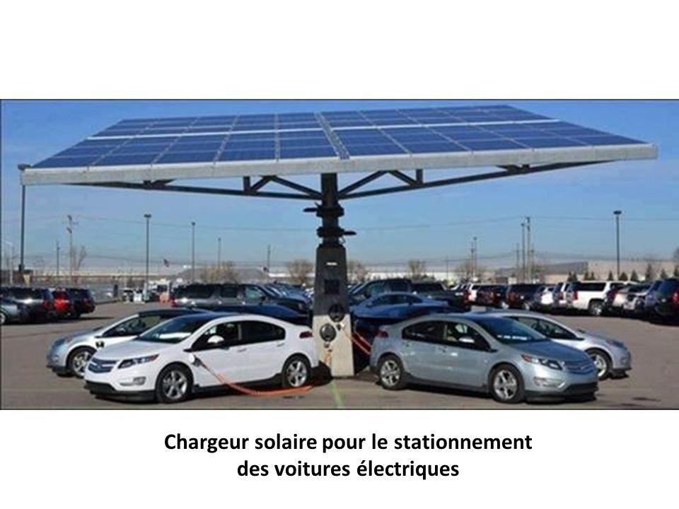 Chargeur solaire pour le stationnement des voitures électriques
