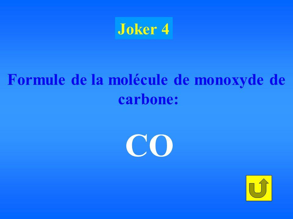 Formule de la molécule de monoxyde de