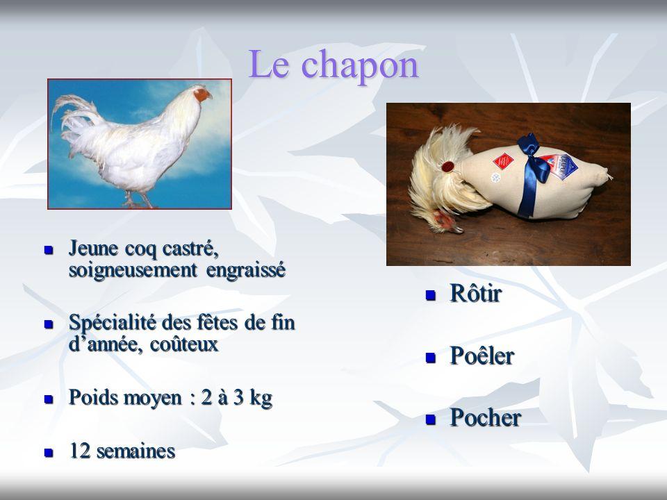 Le chapon Rôtir Poêler Pocher