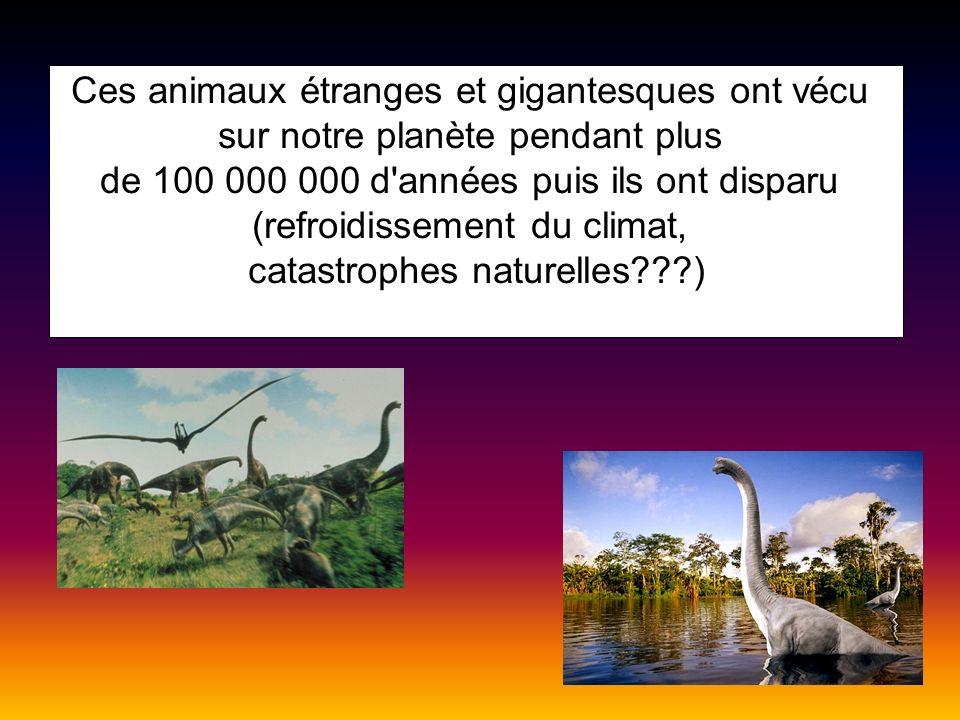 Ces animaux étranges et gigantesques ont vécu
