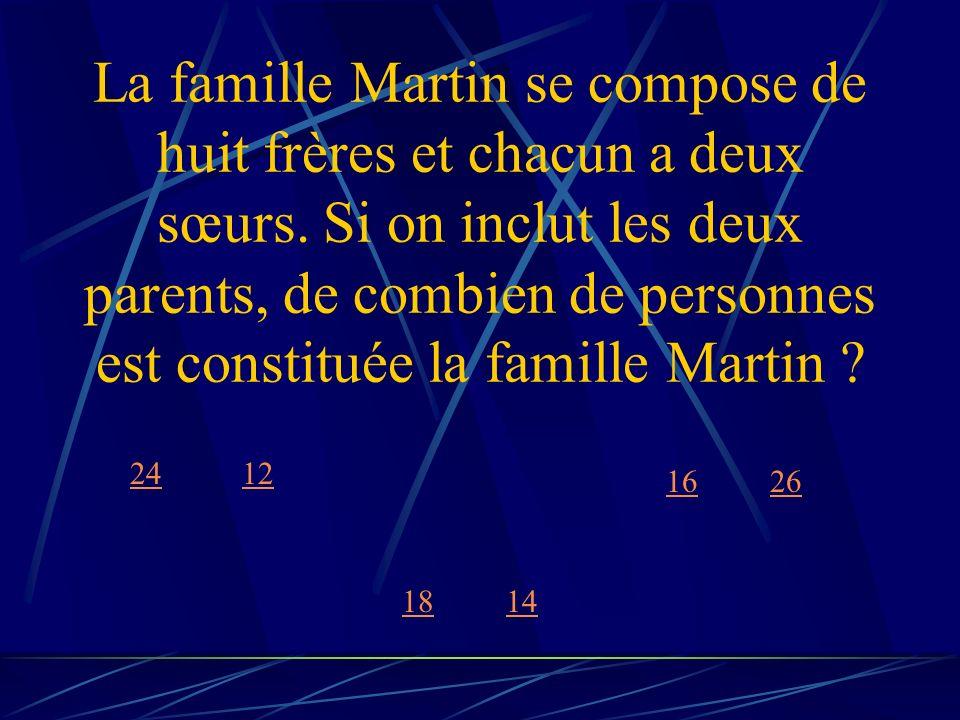 La famille Martin se compose de huit frères et chacun a deux sœurs