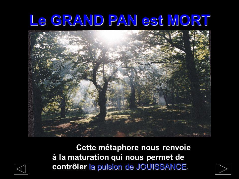 Le GRAND PAN est MORT Cette métaphore nous renvoie