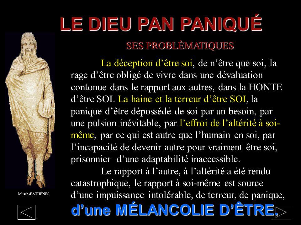 LE DIEU PAN PANIQUÉ SES PROBLÈMATIQUES