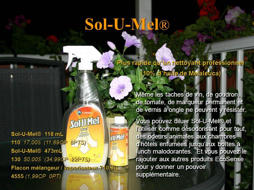 Sol-U-Mel® Plus rapide qu'un nettoyant professionnel
