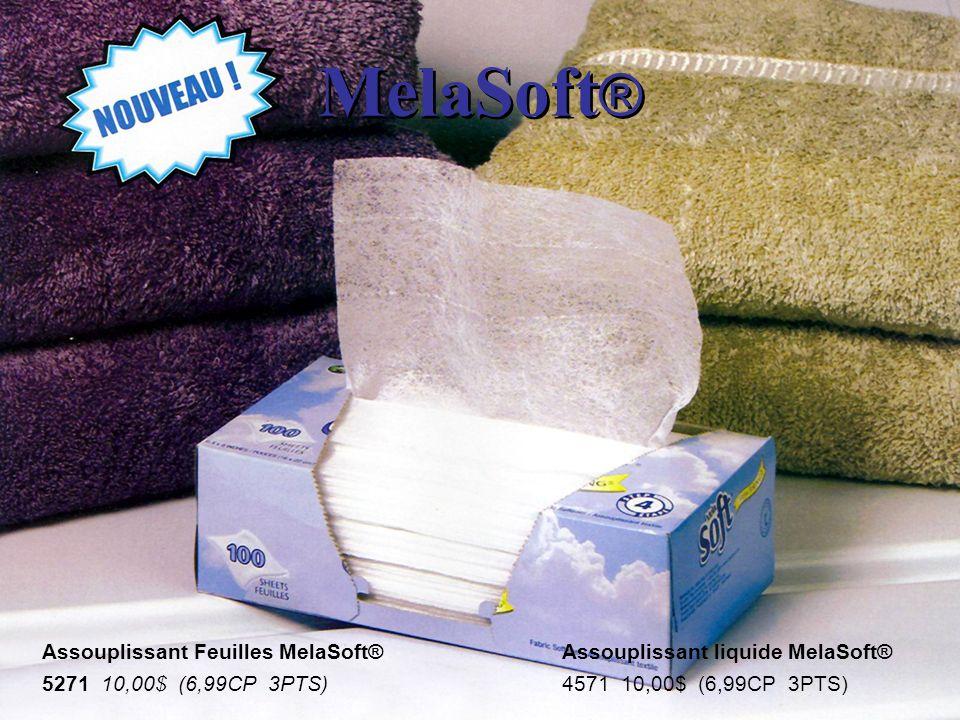 MelaSoft® Assouplissant Feuilles MelaSoft® 5271 10,00$ (6,99CP 3PTS)