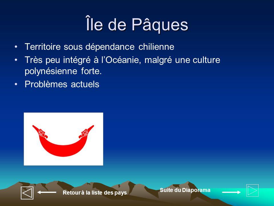 Île de Pâques Territoire sous dépendance chilienne