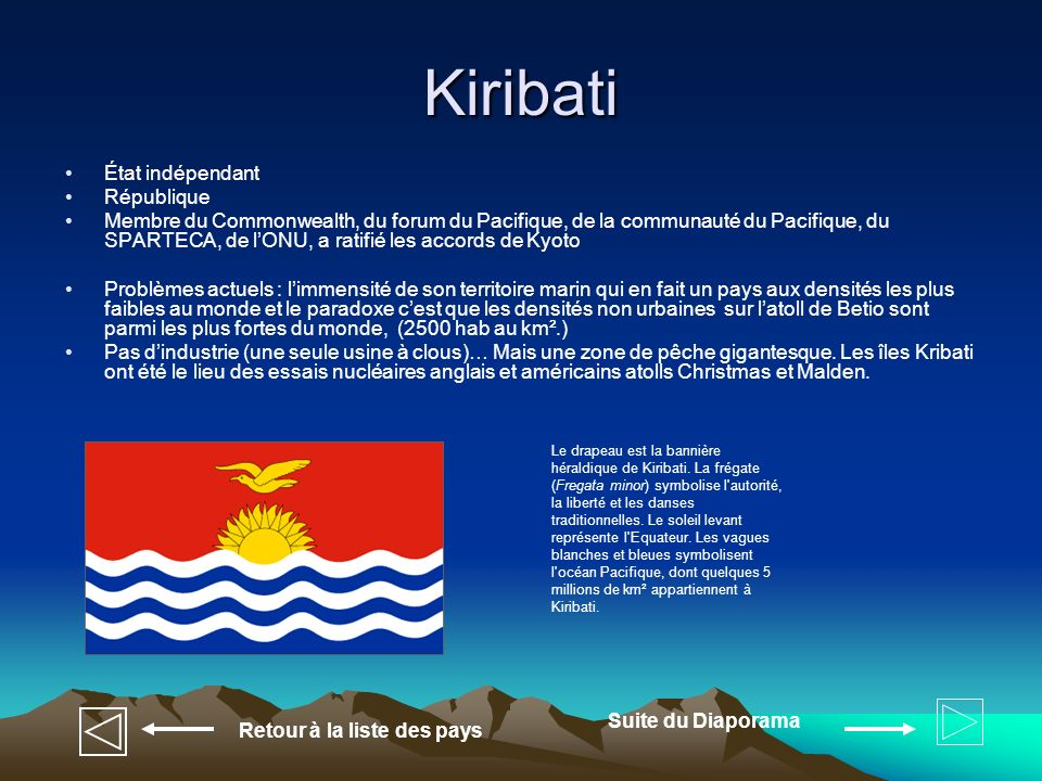 Kiribati État indépendant République