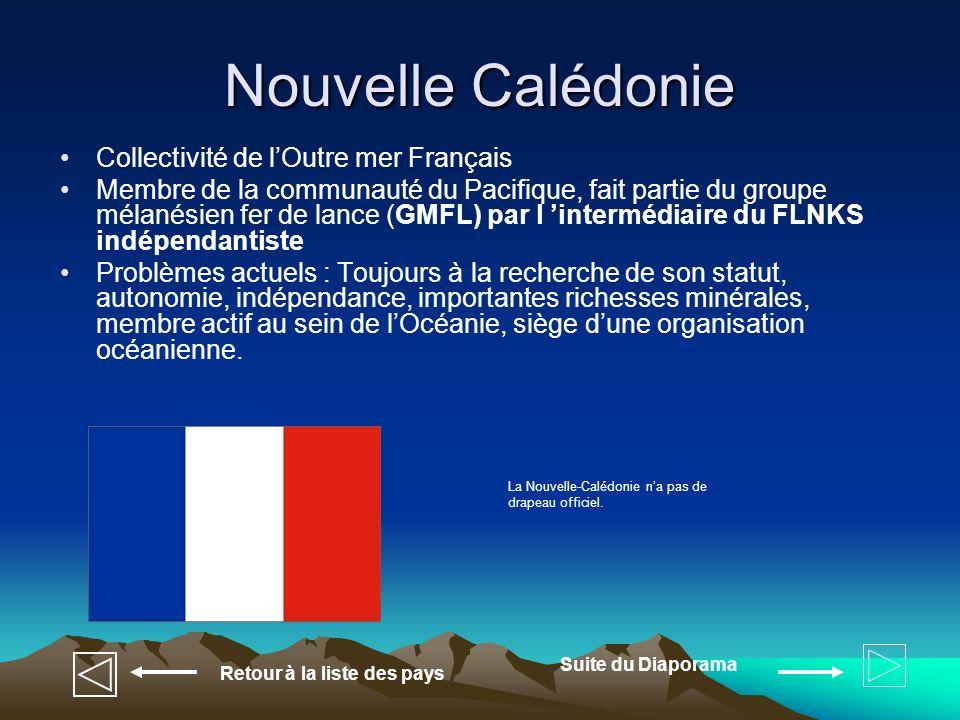 Nouvelle Calédonie Collectivité de l'Outre mer Français