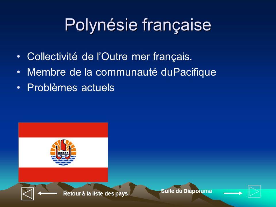 Polynésie française Collectivité de l'Outre mer français.