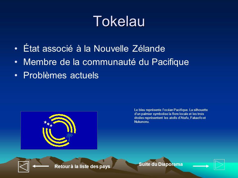 Tokelau État associé à la Nouvelle Zélande