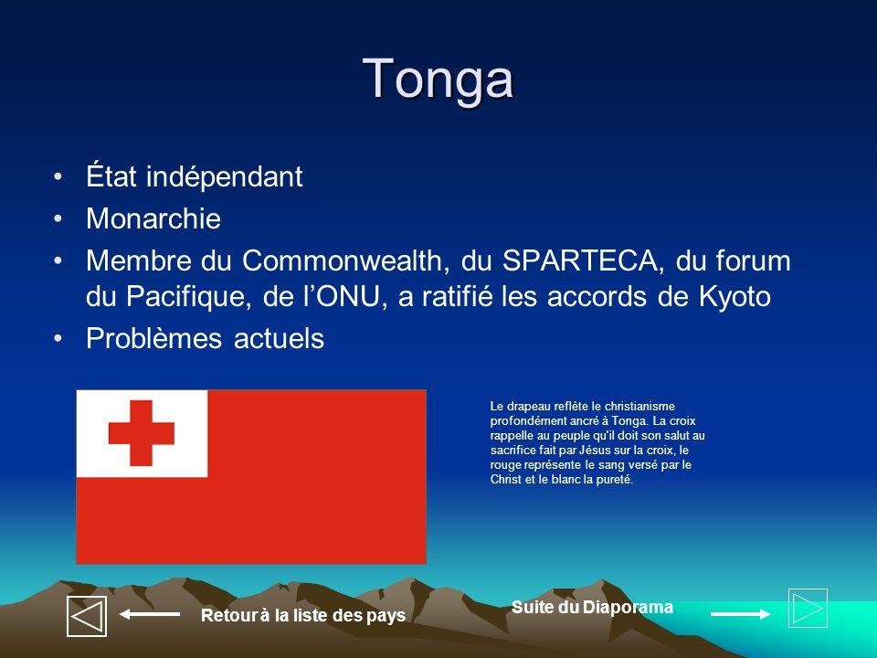 Tonga État indépendant Monarchie