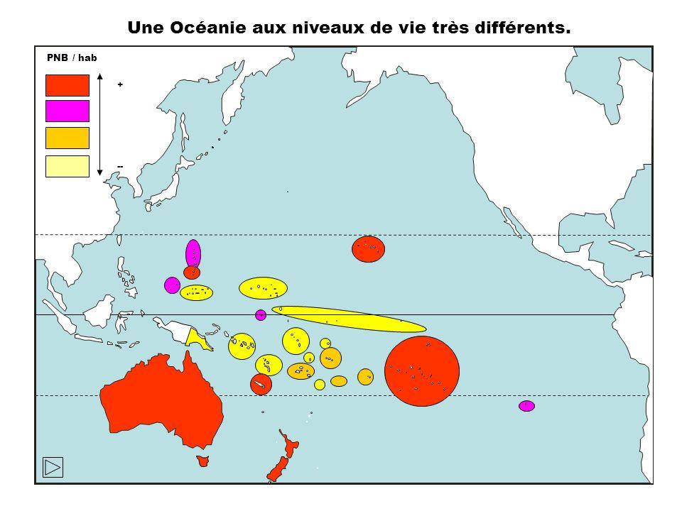 Une Océanie aux niveaux de vie très différents.
