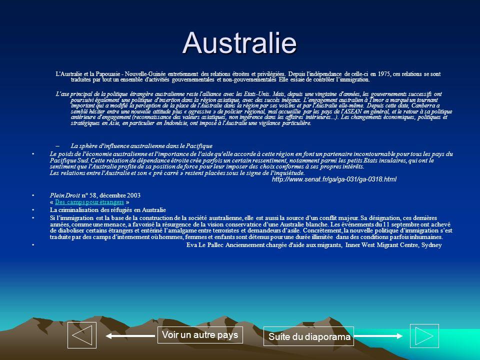 Australie Voir un autre pays Suite du diaporama