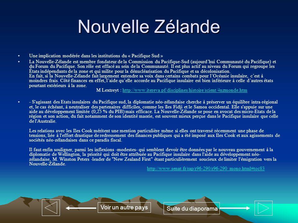 Nouvelle Zélande Voir un autre pays Suite du diaporama