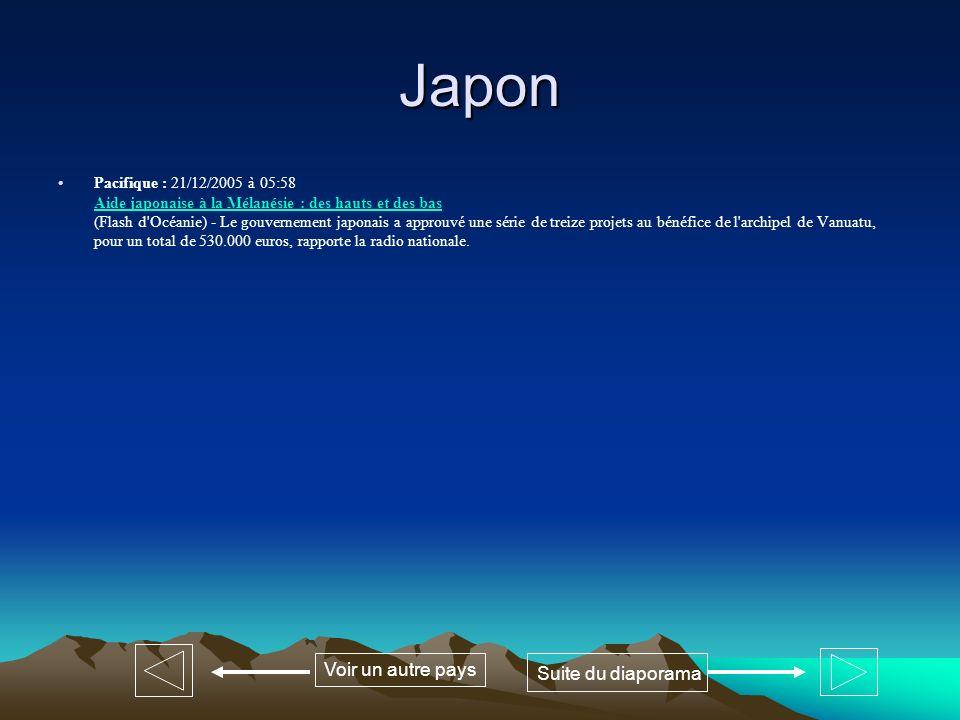 Japon Voir un autre pays Suite du diaporama