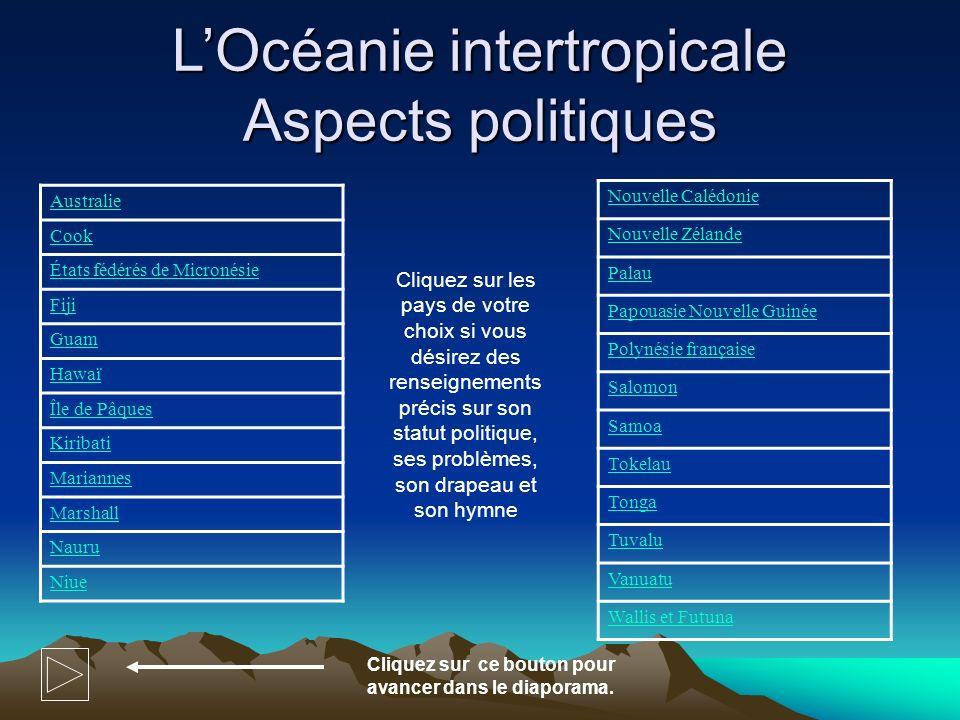 L'Océanie intertropicale Aspects politiques