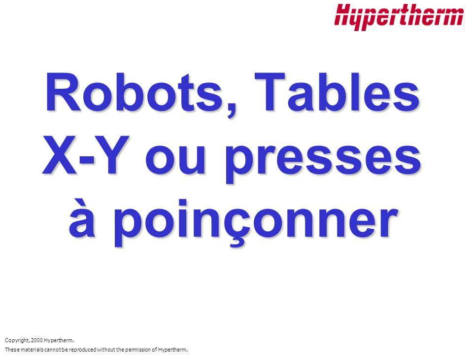 Robots, Tables X-Y ou presses à poinçonner