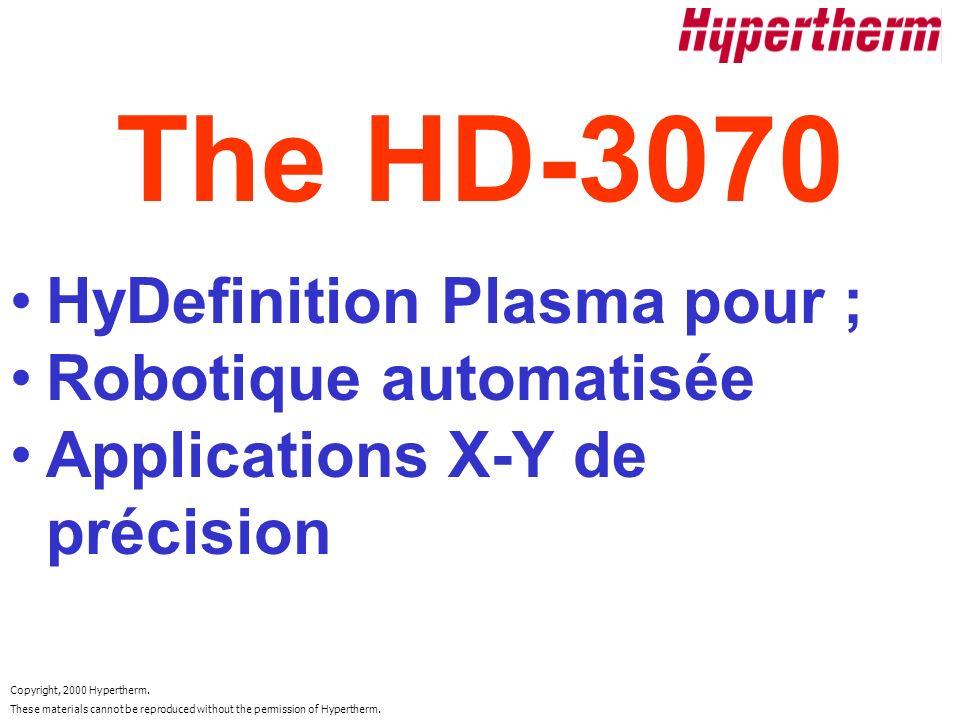The HD-3070 HyDefinition Plasma pour ; Robotique automatisée