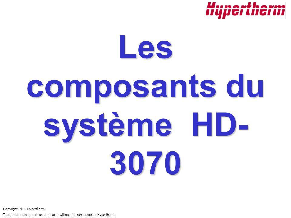 Les composants du système HD-3070