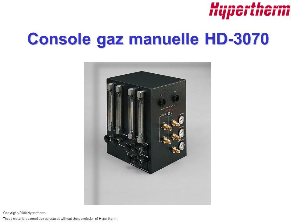 Console gaz manuelle HD-3070