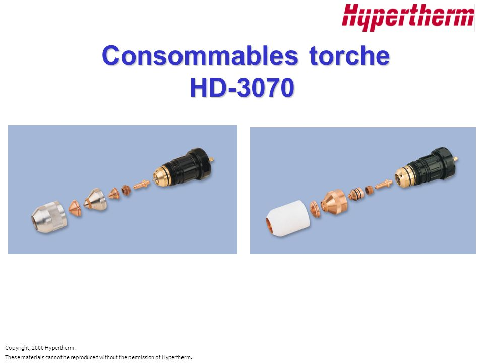 Consommables torche HD-3070