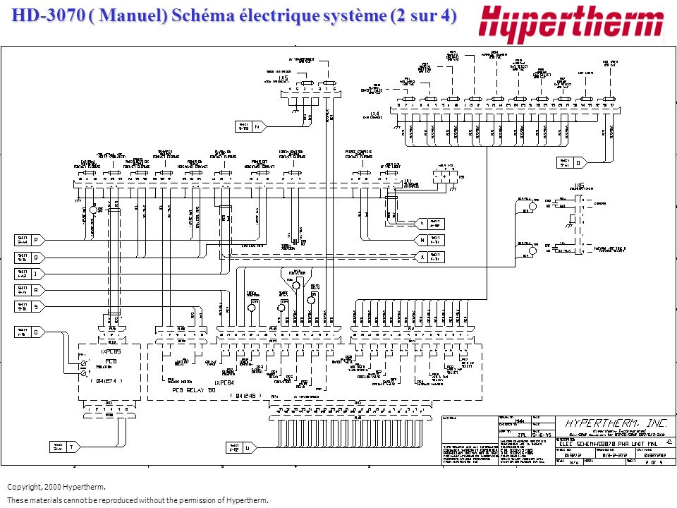 HD-3070 ( Manuel) Schéma électrique système (2 sur 4)