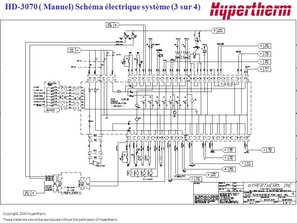 HD-3070 ( Manuel) Schéma électrique système (3 sur 4)