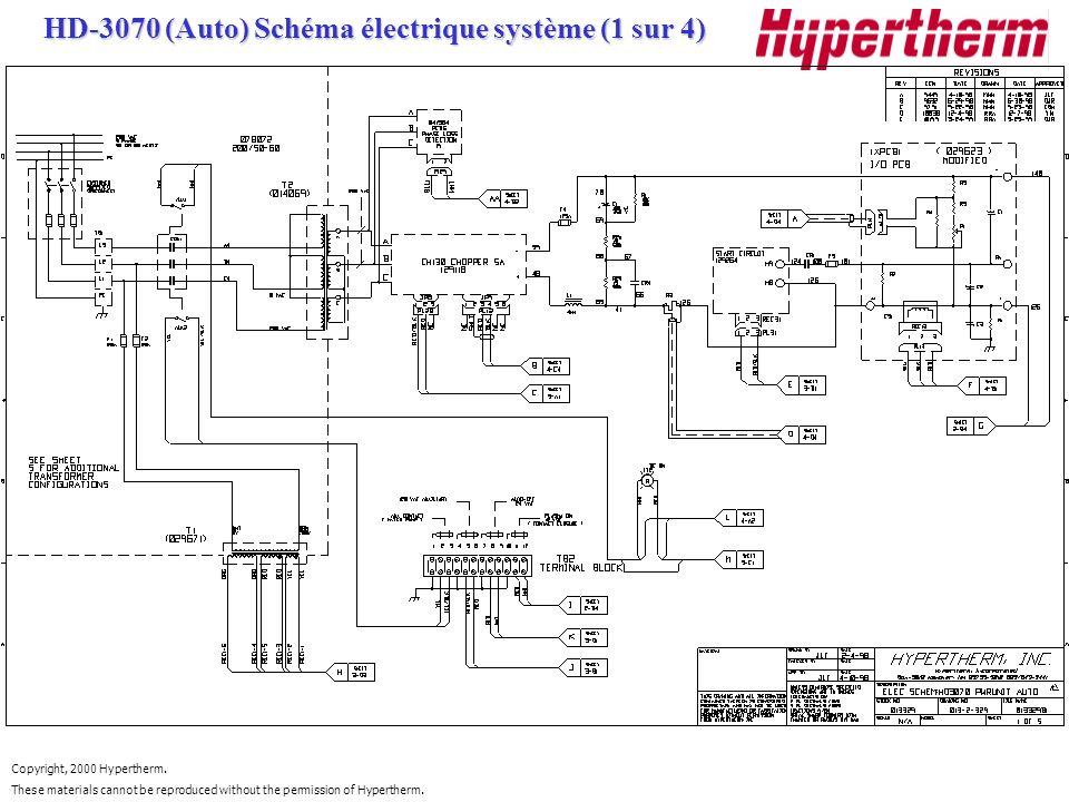 HD-3070 (Auto) Schéma électrique système (1 sur 4)